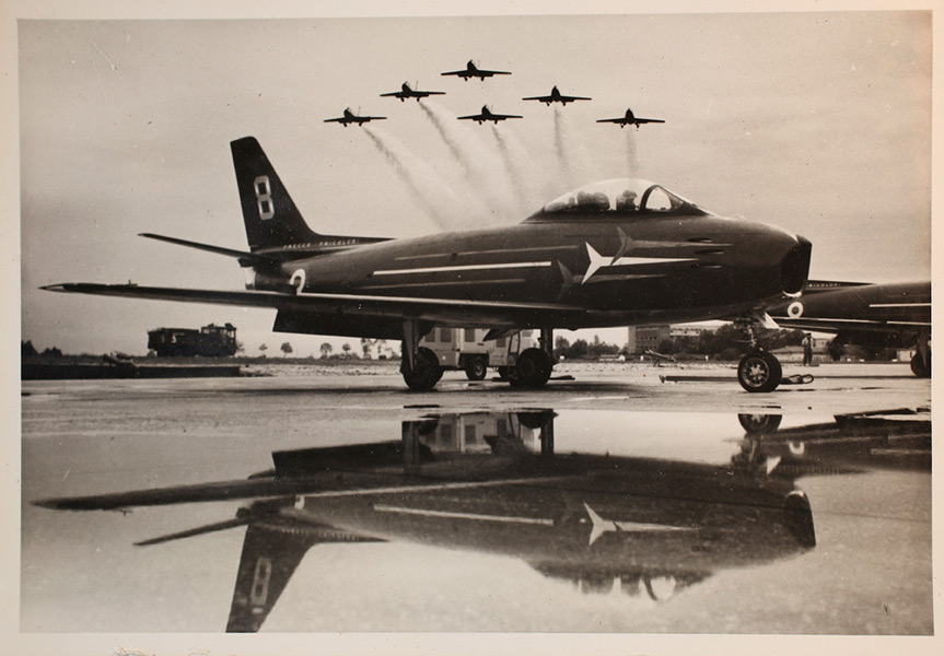 初代の使用機F-86E(Image:イタリア空軍)