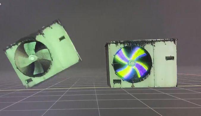 続く投稿ではゲーミング仕様にした室外機との比較動画も紹介。