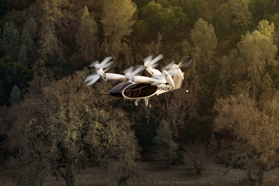 eVTOLのトランジション飛行状態(Image:Joby Aviation)