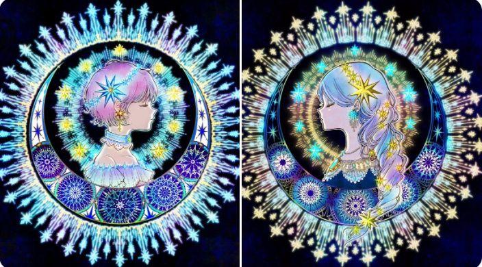 夜空に浮かぶ「星の姉妹」の煌びやかな星の瞬きに引き込まれる