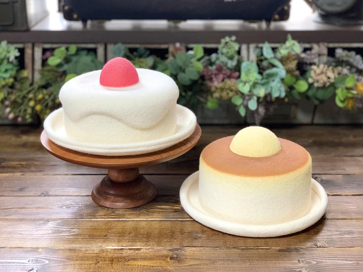 帽子職人が作ったケーキの帽子が可愛くて美味しそう!