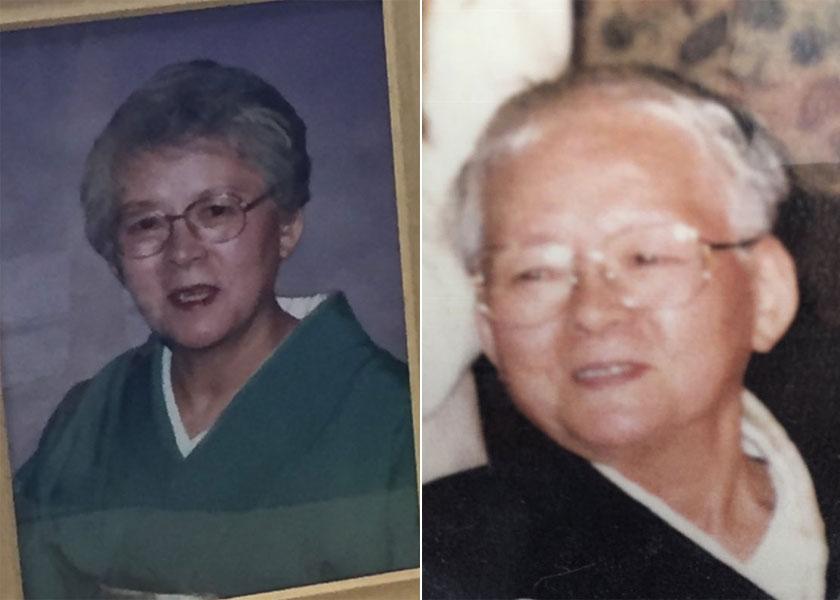 左70代、右100歳頃