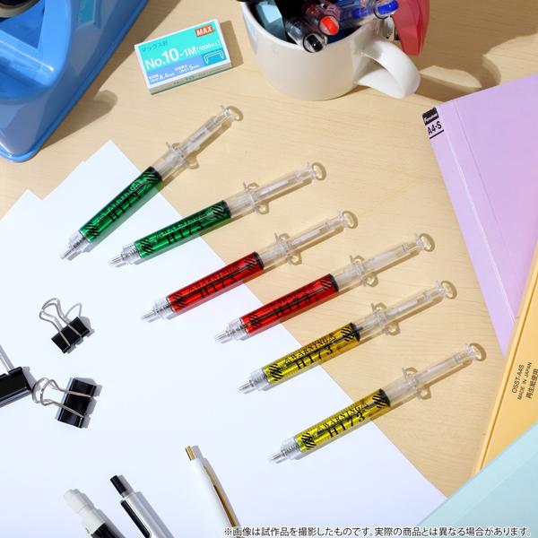 注射器型ボールペン6本がセットになった商品