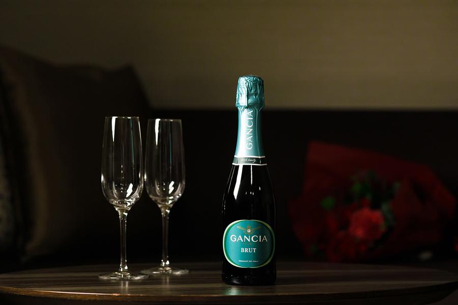スパークリングワイン付き