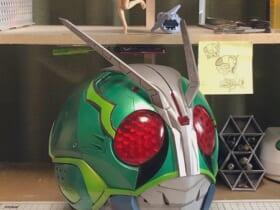 オリジナルの仮面ライダーヘルメットを自作 出来栄えが凄すぎる