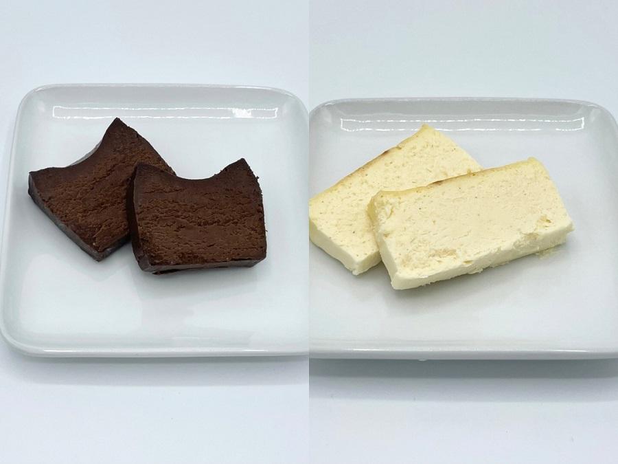 とろ生チーズケーキ、とろ生ガトーショコラでくつろぎのひと時を