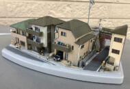 生活感あふれる私鉄沿線住宅地のジオラマ(Ruinsさん提供)