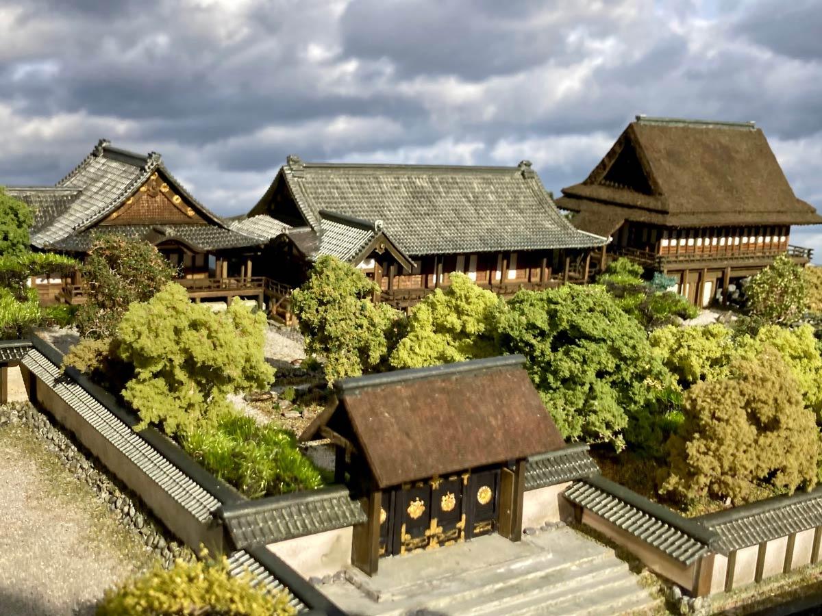 太閤秀吉ゆかりの庭園 精巧な醍醐寺三宝院のジオラマに驚嘆