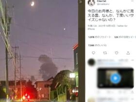 ゴジラ!?車の運転中に目撃した雲の写真が話題。