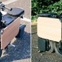 ICOMAの「タタメルバイク」は畳めるバイク 収納性ヨシの近…