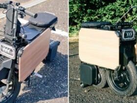 収納性ヨシ! 折り畳める電動バイクが話題。