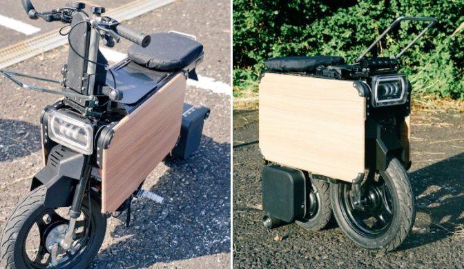 ICOMAの「タタメルバイク」は畳めるバイク 収納性ヨシの近未来型電動バイク