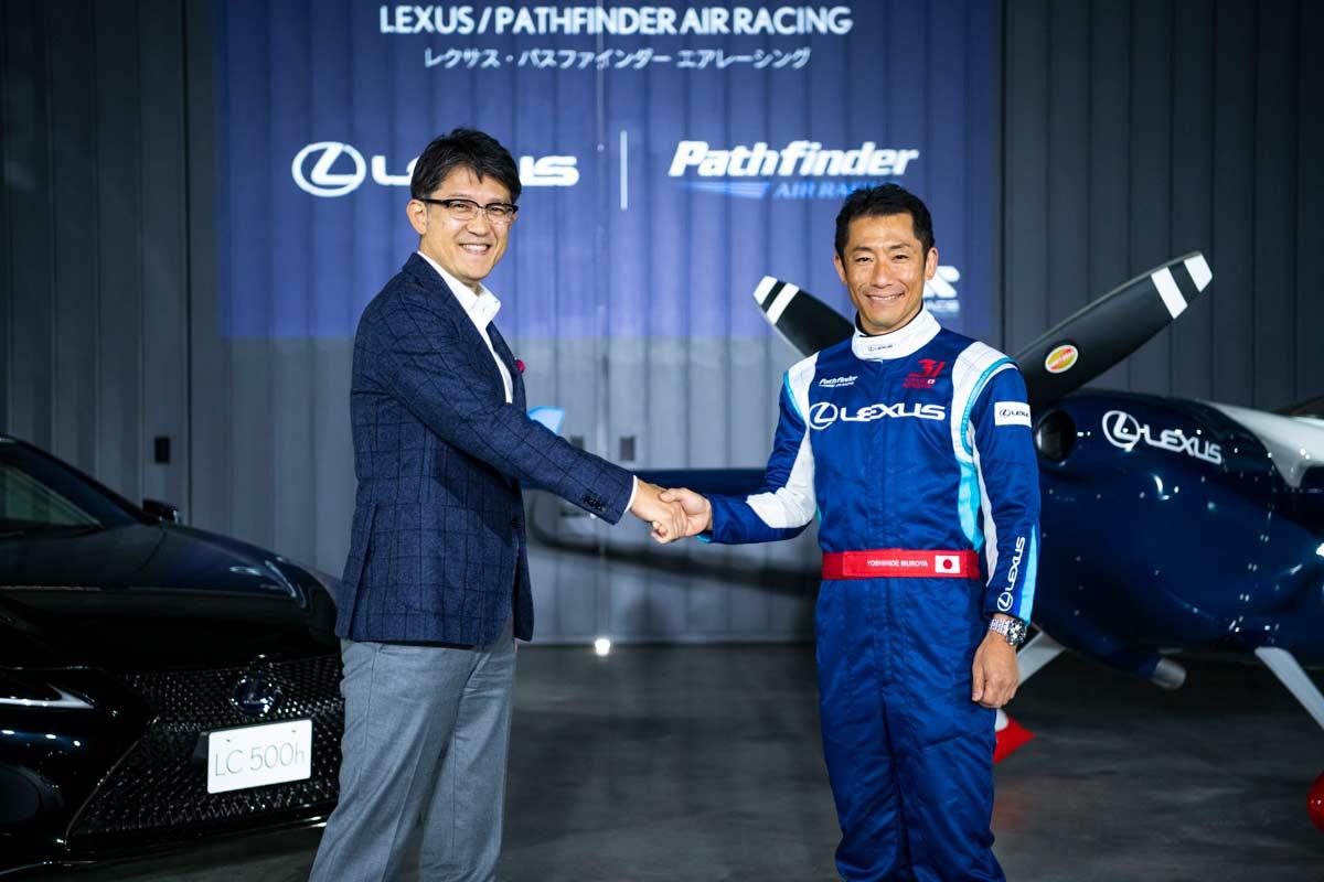 室屋選手(右)と佐藤プレジデント((c) Lexus Pathfinder Air Racing / Suguru Saito)