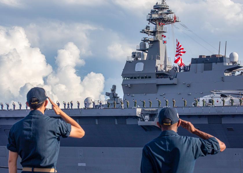 「マラバール2021」参加中の護衛艦かが(画像:U.S.Navy)