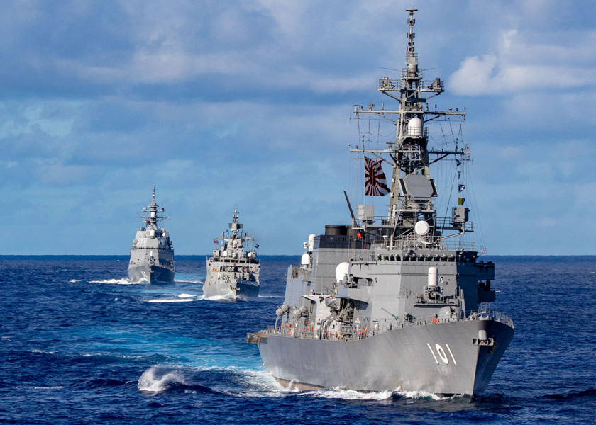 「マラバール2021」参加中の護衛艦むらさめ(画像:U.S.Navy)
