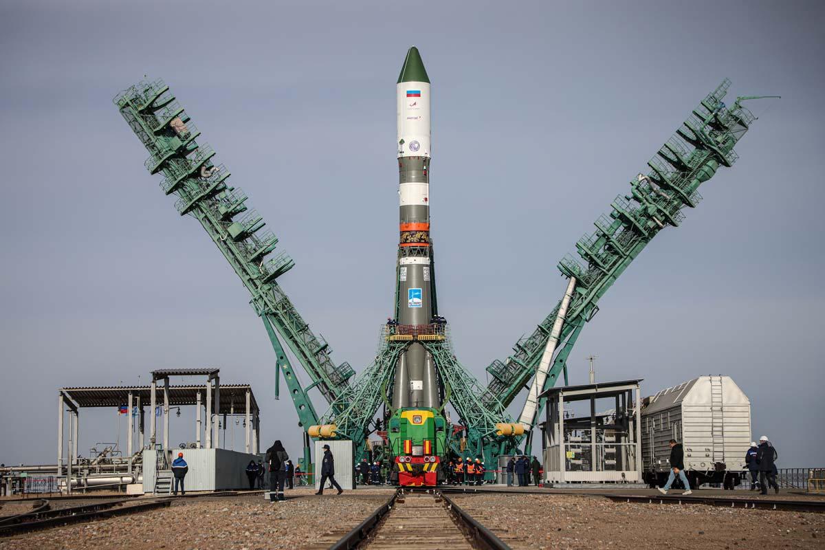 プログレスMS-18を搭載したニジニ・ノヴゴロド800周年記念ロケット(画像:ロスコスモス)