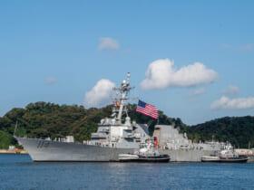 横須賀に到着した駆逐艦ラルフ・ジョンソン(画像:U.S.Navy)