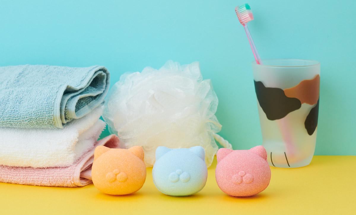 ねこにモテたい入浴剤「ネコモテバスボール」が発売 またたび風の香りを調合
