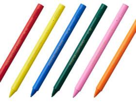 クーピーペンシルの色合いをイメージする6色展開